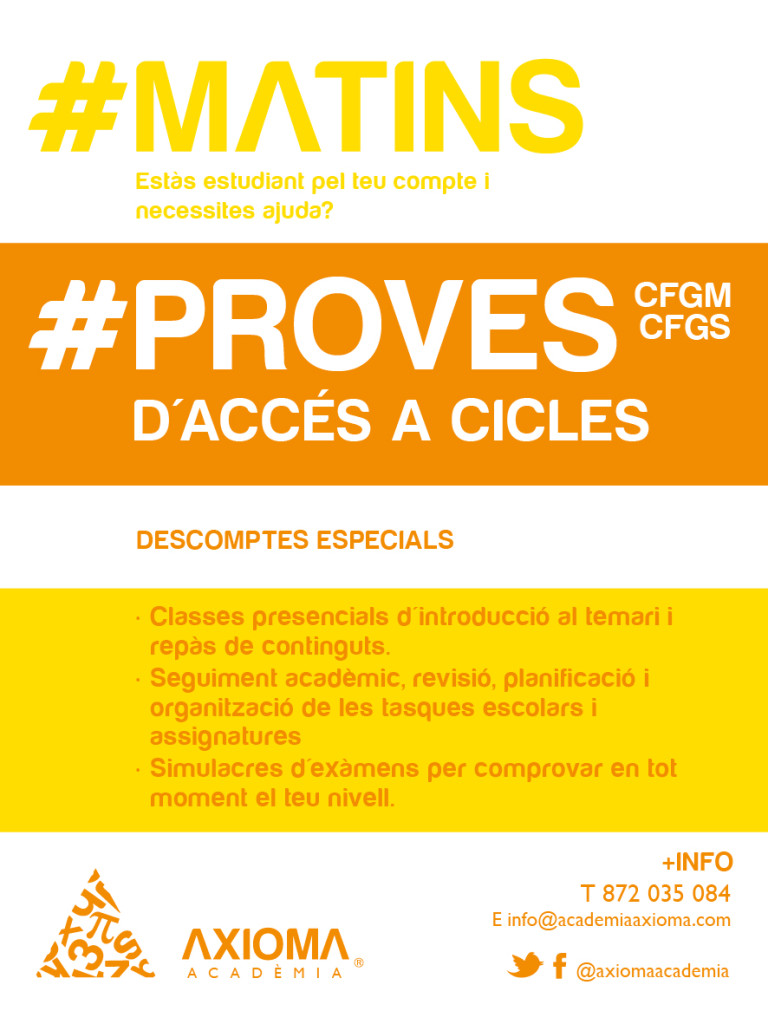 cartell proves accés